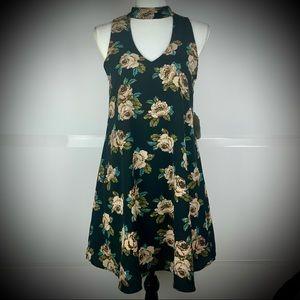 Boho Cutout Collar Floral Dress